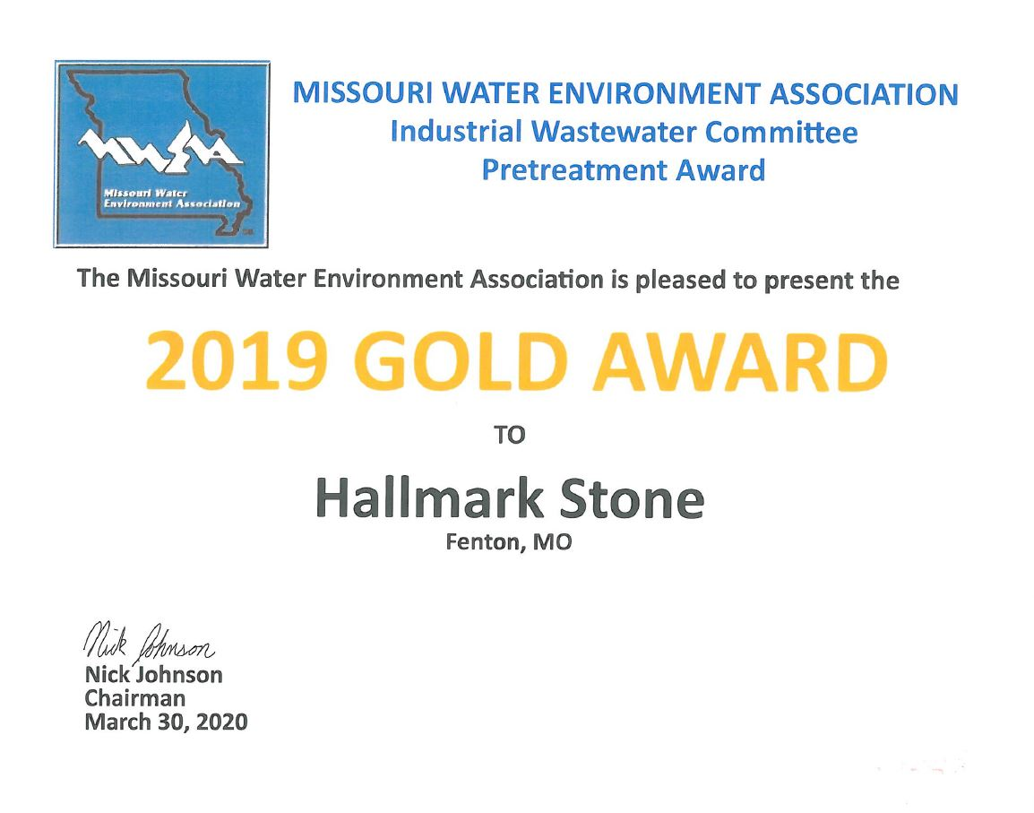 MO Water Environment Gold Award 2019